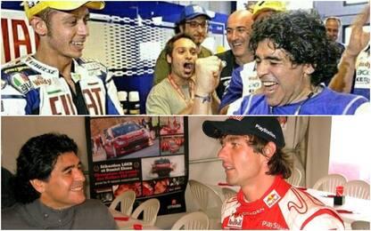 Da Rossi a Sainz, il Motorsport piange Maradona