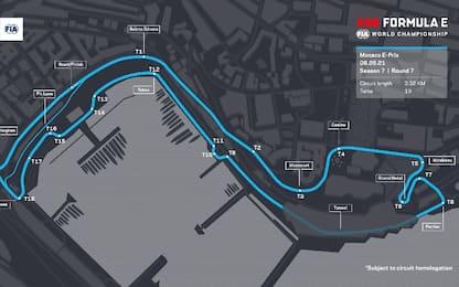 Formula E, a Montecarlo sul circuito della F1