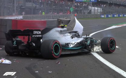 Lo spaventoso incidente di Bottas nel Q3. VIDEO