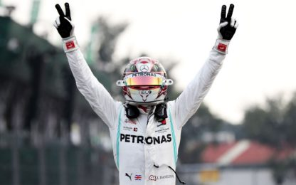 Hamilton vince, Vettel 2°. Leclerc giù dal podio