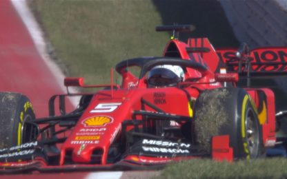 GP USA, Vettel out al giro 8. VIDEO