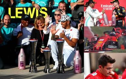 Hamilton ancora re, la Ferrari s'inceppa. VIDEO