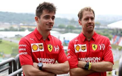 """Vettel: """"Gara più dura"""", Leclerc: """"Passo buono"""""""