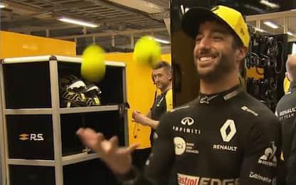 Ricciardo, il vero Circus: fa il giocoliere. VIDEO