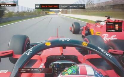 Ferrari, i team radio dopo l'incidente. VIDEO