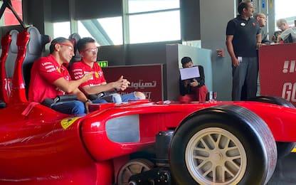 Leclerc-Gené, brividi e risate al Ferrari World