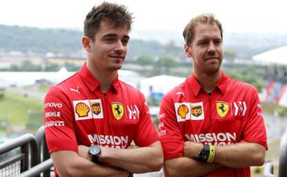 """Vettel: """"Verso il limite"""", Leclerc: """"Soddisfatto"""""""