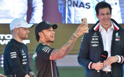 "Wolff: ""Hamilton, stagione da 8. A Bottas 7,5"""