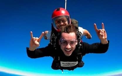 Leclerc paracadutista per un giorno. FOTO