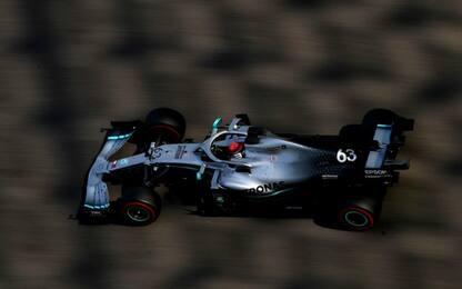 Mercedes domina i test F1: 1° Russel, 2° Leclerc