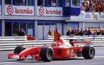 21 Oct 2001:  Ferrari driver Michael Schumacher of Germany in action during the Ferrari Challenge World Finals held in Monza, Italy. \ Mandatory Credit: Clive Mason /Allsport