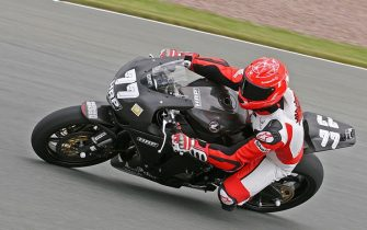 HOHENSTEIN-ERNSTTHAL, GERMANY - JUNE 12: Michael Schumacher of Germany and Holzhauer Racing Team rides his bike during the International German Championship IDM training session at Sachsenring racetrack on June 12, 2009 in Hohenstein-Ernstthal, Germany. Schumacher could compete on June 21, 2009. (Photo Ralph Koehler/Bongarts/Getty Images)