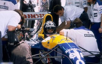 Damon Hill in his Williams-Renault, 1993. As the son of one of the legends of motor racing, Damon Hill had much to live up to when he decided to pursue a career in the sport. Having gained his first experience of Formula 1 with a few races with Brabham whilst working as a test driver with Williams in 1992, he graduated to the Williams racing team proper in 1993. He was immediately successful, helped by an excellent car, and achieved his first win in Hungary, immediately following it up with two more, at Spa and Monza. After coming close in 1994, he finally emulated his father Graham by becoming World Champion in 1996, winning six of the first nine Grands Prix of the season. His performances in the second half of the season were perceived as less impressive and he was controversially dropped from the team. The rest of his career was spent with less competitive cars, although he did secure the Jordan team's first Grand Prix victory in Belgium in 1998. After a miserable 1999 season, however, he decided to retire. (Photo by National Motor Museum/Heritage Images/Getty Images)