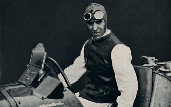 Nuvolari', 1937. Tazio Giorgio Nuvolari (1892-1953). From Sir Malcolm Campbell's Book of Famous Motorists, edited by Sir Malcolm Campbell. [Blackie & Son Limited, London and Glasgow, 1937] Artist Unknown. (Photo by The Print Collector/Getty Images)