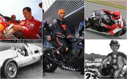 Da Schumacher a Hamilton: i big della F1 in moto