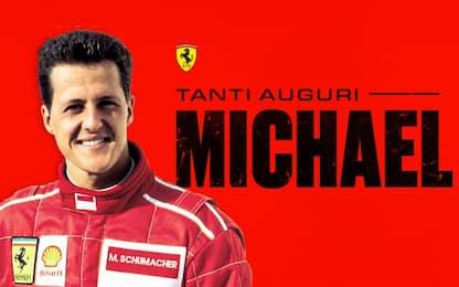 Schumi compie 51 anni, gli auguri della Ferrari