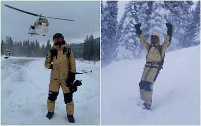 Hamilton fa festa sullo snow: che stile! VIDEO