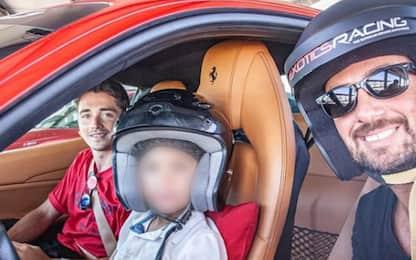 Leclerc istruttore per un bimbo di 6 anni. VIDEO