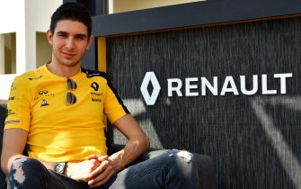 French Formula One driver Esteban Ocon poses for a picture on his first day with the Renault team, at the Yas Marina Circuit in Abu Dhabi, on December 2, 2019. - The highly-rated 23-year-old Frenchman will race for Renault next year as successor to Nico Hulkenberg alongside Daniel Ricciardo, and is set to test for them on the upcoming weekend in the post-season event in Abu Dhabi. (Photo by GIUSEPPE CACACE / AFP) (Photo by GIUSEPPE CACACE/AFP via Getty Images)