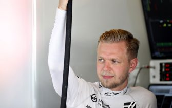 ABU DHABI, UNITED ARAB EMIRATES - NOVEMBER 30: Kevin Magnussen of Denmark and Haas F1 prepares to drive in the garage during final practice for the F1 Grand Prix of Abu Dhabi at Yas Marina Circuit on November 30, 2019 in Abu Dhabi, United Arab Emirates. (Photo by Mark Thompson/Getty Images)