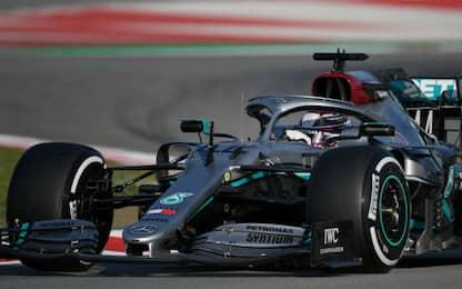 Test Barcellona: Hamilton 1° nel Day-1, Leclerc 7°