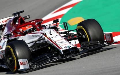 Test, Day-1 a Kubica. Vettel 10°, Leclerc 13°