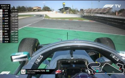 Sorpresa a Barcellona, si ferma Hamilton. VIDEO