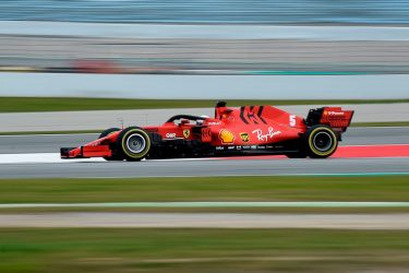 Ferrari's German driver Sebastian Vettel takes part in the tests for the new Formula One Grand Prix season at the Circuit de Catalunya in Montmelo in the outskirts of Barcelona on February 27, 2020. (Photo by Josep LAGO / AFP) (Photo by JOSEP LAGO/AFP via Getty Images)