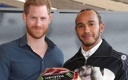 Silverstone, Hamilton incontra il principe Harry