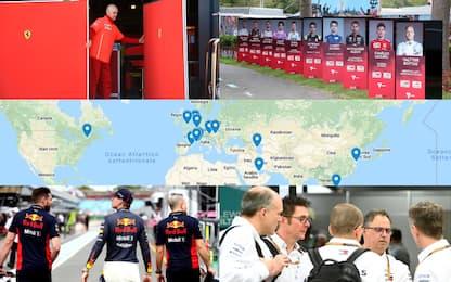 Coronavirus, come cambia il Mondiale di F1: MAPPA