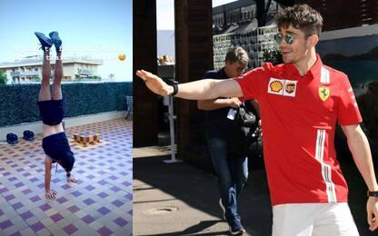 Leclerc, l'allenamento da equilibrista. VIDEO