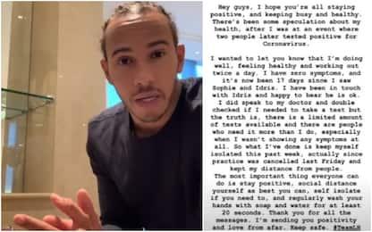"""Hamilton: """"Contatti con positivi ma sto bene"""""""