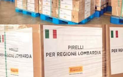 Pirelli dona 65 respiratori e 20mila mascherine