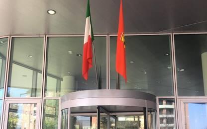 Leclerc, bandiere a Maranello dopo il GP virtuale