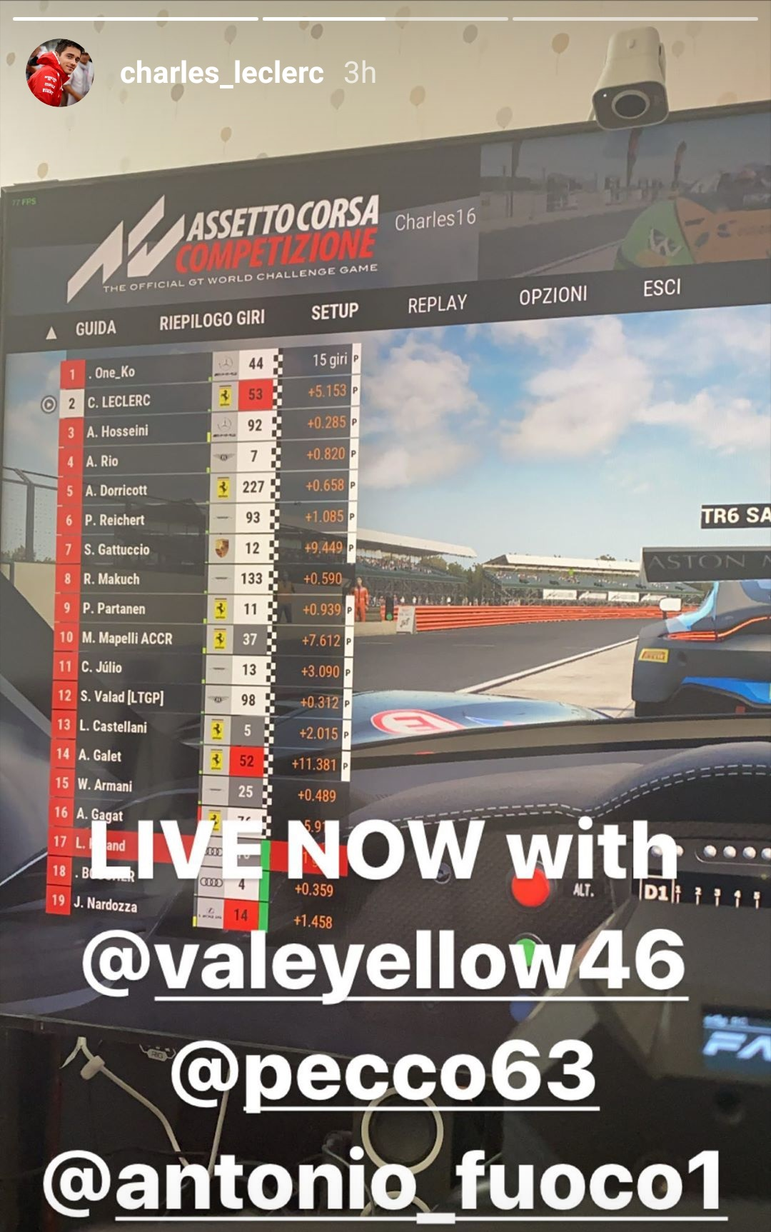 Leclerc-Rossi, sfida virtuale