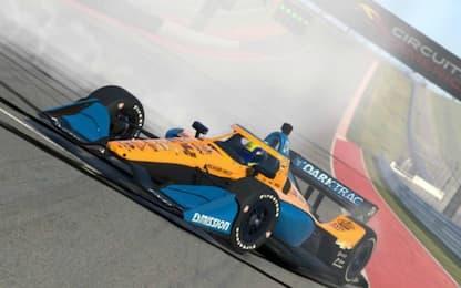 IndyCar virtuale: Norris trionfa al debutto