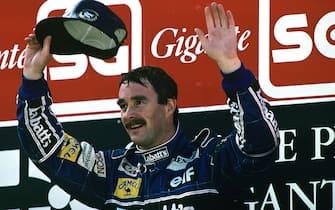 Nigel Mansell, Grand Prix of Portugal, Autodromo do Estoril, 27 September 1992. (Photo by Paul-Henri Cahier/Getty Images)