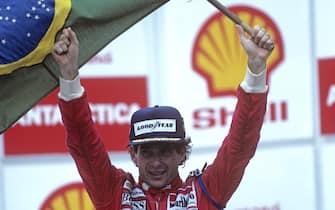 Ayrton Senna, McLaren-Honda MP4/6, Grand Prix of Brazil, Autodromo Jose Carlos Pace, Interlagos, Sao Paolo, 24 March 1991. (Photo by Paul-Henri Cahier/Getty Images)