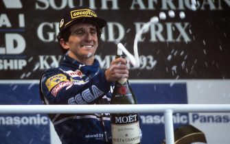 Alain Prost, Grand Prix of South Africa, Kyalami Grand Prix Circuit, March 14, 1993. (Photo by Paul-Henri Cahier/Getty Images)