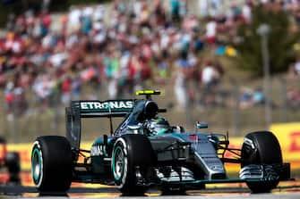 Nico Rosberg, Mercedes F1 W06 Hybrid, Grand Prix of Hungary, Hungaroring, 26 July 2015. (Photo by Paul-Henri Cahier/Getty Images)