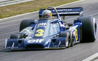 Jody Scheckter, Tyrrell-Ford P34, Grand Prix of Sweden, Anderstorp Raceway, 13 June 1976. (Photo by Bernard Cahier/Getty Images)
