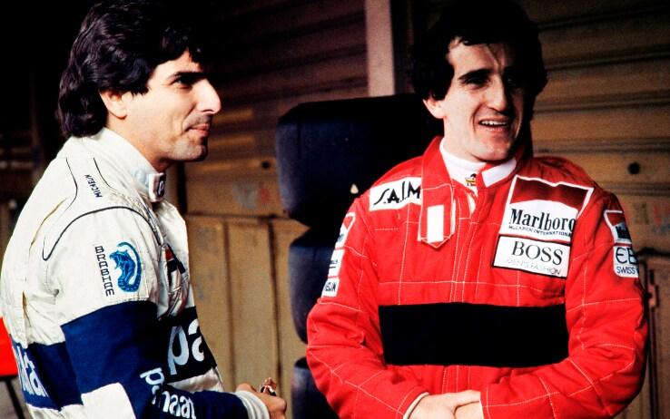 Nelson Piquet e Alain Prost
