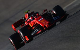 AUSTIN, TEXAS - NOVEMBER 02: Charles Leclerc of Monaco driving the (16) Scuderia Ferrari SF90 on track during qualifying for the F1 Grand Prix of USA at Circuit of The Americas on November 02, 2019 in Austin, Texas. (Photo by Dan Istitene/Getty Images)