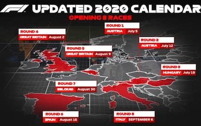 Ufficiali i primi 8 GP di F1: sono tutti in Europa