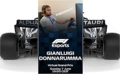 Torna la F1 virtuale su Sky, c'è anche Donnarumma