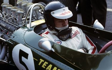 Jim Clark, Lotus 49 Ford Cosworth, Grand Prix of Belgium, Spa Francorchamps, 18 June 1967. (Photo by Bernard Cahier/Getty Images)