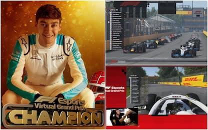 F1 virtuale, il Mondiale capovolto: vince Russell