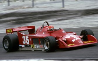 Bruno Giacomelli, Alfa Romeo 177, Grand Prix of France, Dijon-Prenois, 01 July 1979. (Photo by Bernard Cahier/Getty Images)