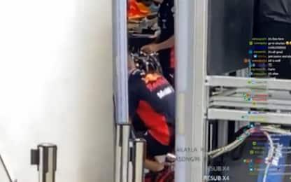 """Norris a spasso nel paddock. E """"spia"""" la Red Bull"""