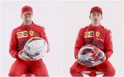 Sulla testa di Vettel e Leclerc: i caschi 2020